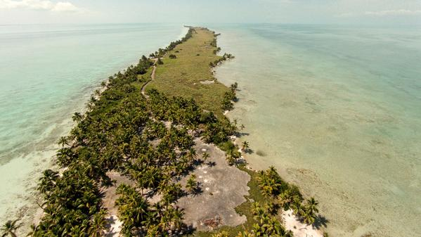 Another view of the undeveloped Blackadore Caye on which a very high-end resort is being planned.