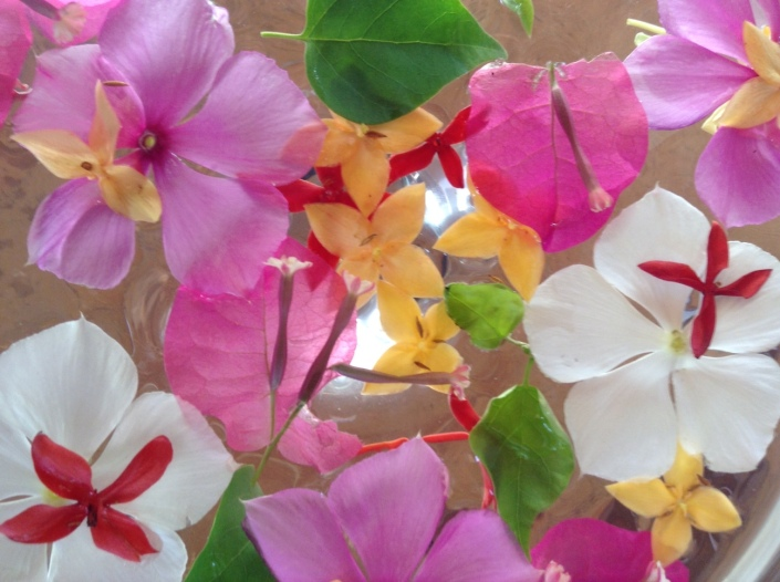 If a collection of local flowers and leaves floating in a glass bowl fascinates you, you might just succeed as an expat.