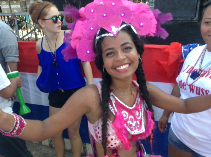 Still bursting with energy and a radiant smile after the Independence Day Jump-Up Parade. Ah, youth ....