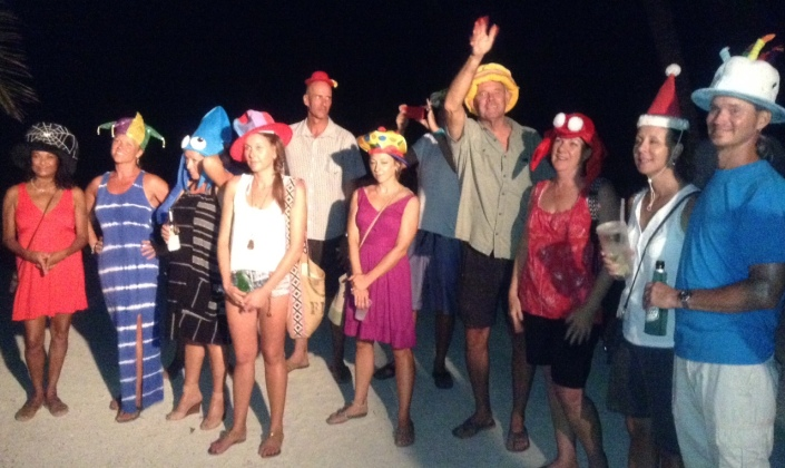 """An island tradition called the """"Cayeing In Ceremony"""" is an adaption of a Newfoundland tradition. It requires wearing funny hats, kissing a fish, reciting some verse and downing a shot of liquor. It is how we say welcome .... and have fun."""