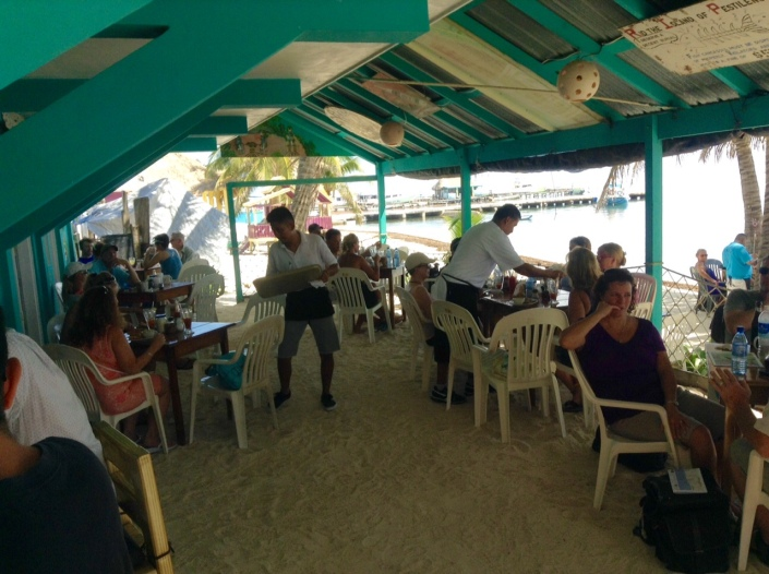 Familiar surroundings, the reopening of Estel's on the beach for breakfast is a sure sign that High Season is quickly approaching.
