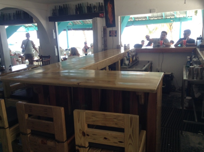 The new bar area inside Estels opens up to the outside and is a great place for single diners to sit and eat, freeing up precious tables for larger groups.
