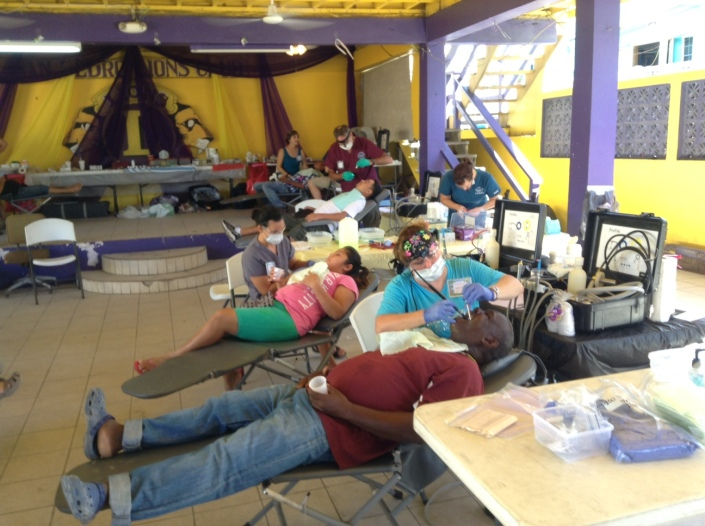 The Lion's Club building has been a hive of activity these past two weeks as dentistry professionals have descended on Belize from the United States to volunteer their skills to the community. This is the 23rd year for Belize Mission Project, which started as an innocent fishing trip to San Pedro. Volunteers pay their own way, taking vacation time and puttng smiles on local faces while leaving very much changed themselves.