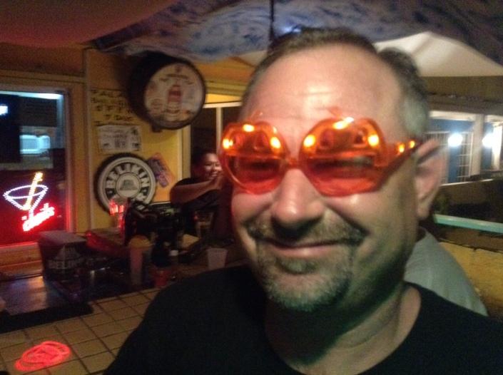 At Wayo's, Greg wasworking on mashup of Elton John and Bono.