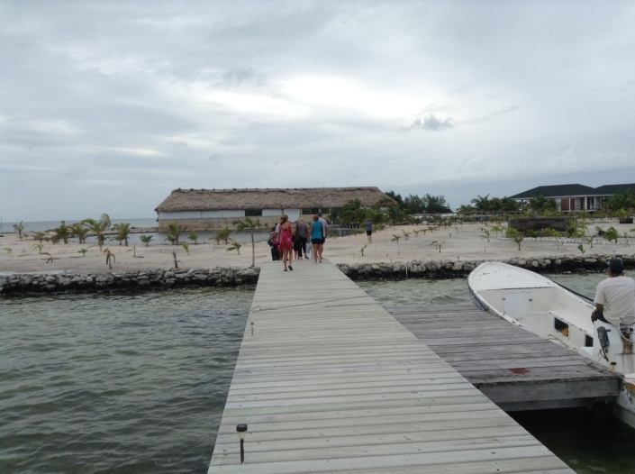 Straight ahead is the grand palapa with a bar, dining area, lounging sets and a nice infinity swimming pool.