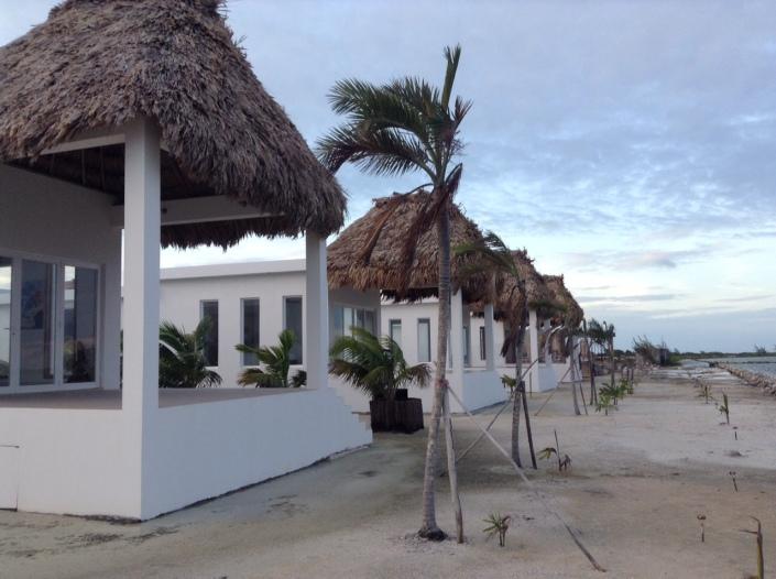 "Closeup of the one-bedroom ""shotgun"" cabanas at Mayan Islands Resort."