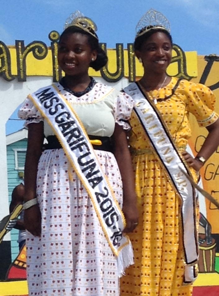 Scenes from the crowning and shashing ceremony for Miss Garifuna San Pedro 2015-16.