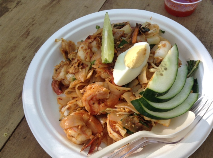From Rasa: Kuew Teow Goreng -- a spicy shrimp in broad rice noodles.