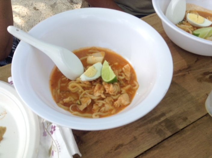 "From Rasa: Mee Sup Istmewa -- a ""special peanut noodle soup."" This bowl will be FULL when this dish is served!"