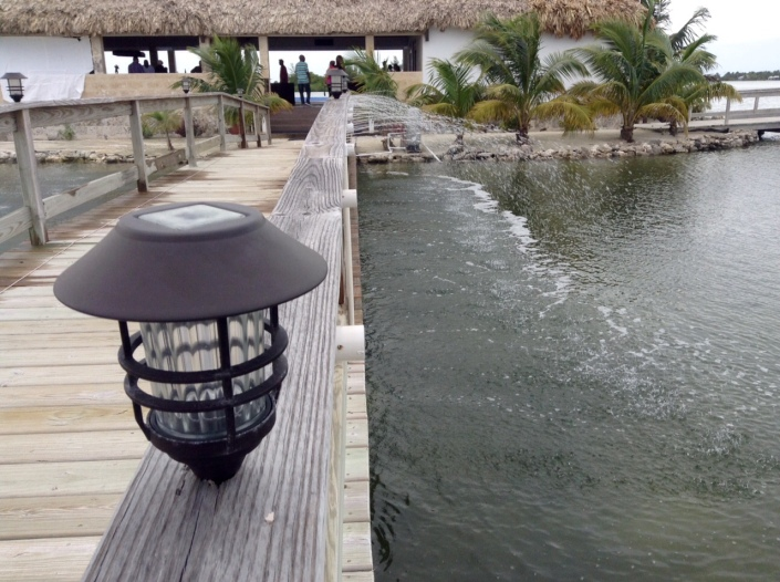Nice details abound at Mayan Islands Resort, like the water fixture over the bridge leading to the pool, bar and restaurant.
