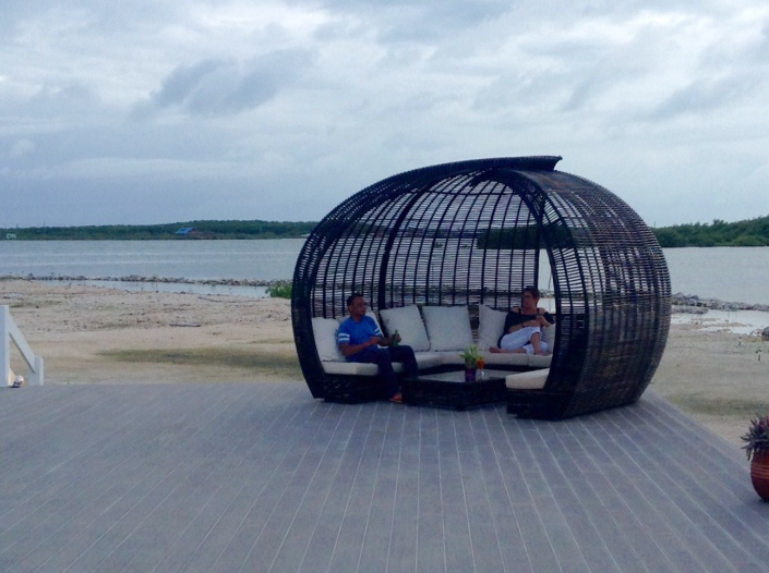 Mayan Islands Resort has several of these pods around its pool and lounging area. The perfect setting for a group of friends.