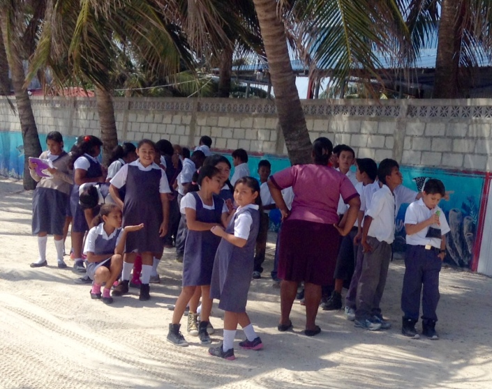 Even a group of uniformed school kids out on an expedtion from class can be a thing of joy and wonder to watch.