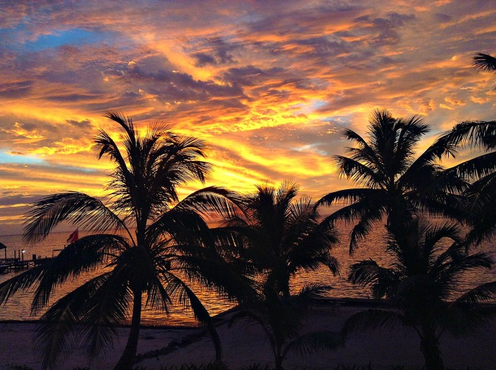It is worth rising with the sun on Ambergris Caye. More often that not, you'll be rewarded with a magnificent display.