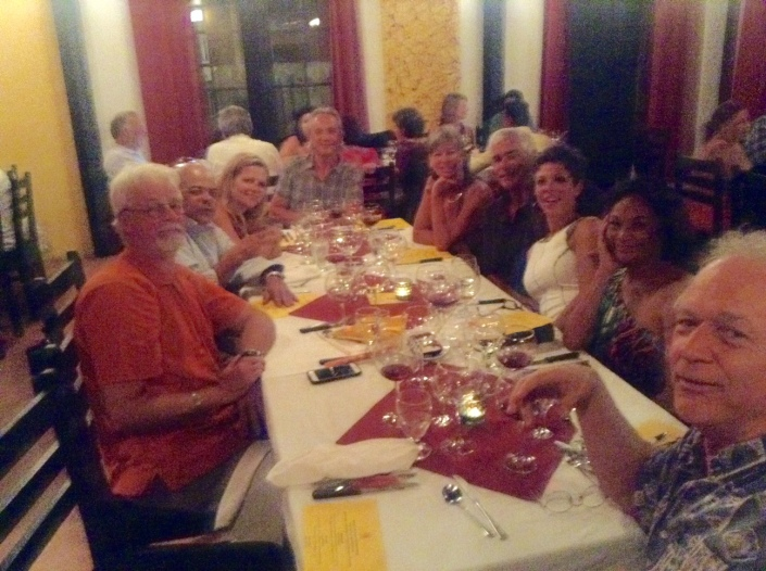Our table at Casa Picasso on Saturday night. Surrounded by good friends.