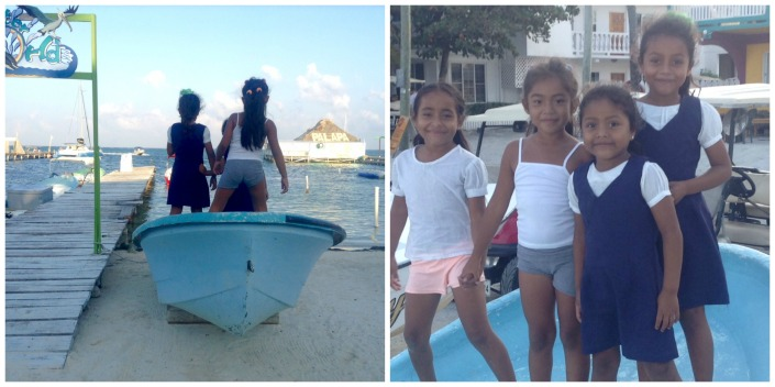 """Sometimes an image grabs you by the eyeballs, shakes your head and says """"Shoot me!"""" These little girls were playing """"Rock the boat"""" just off Boca del Rio as the daylight was beginning to fade recently. Technically the shots came out poorly but I'm glad I was there to see kids at play, so innocent and carefree."""
