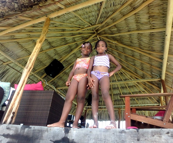 More kids on Caye Caulker.
