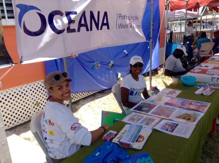 Our friend Roxy from Oceana in the foreground. Roxy shows up for the First Friday Tres Cocos Cleanup event every month.