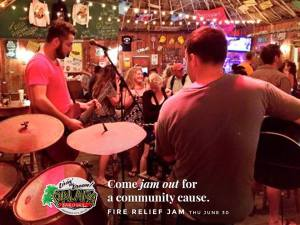 Jamming for the community -- Palapa invites all to come down and dance Thursday night. A percentage of the night's funds will go straight to the Lions Club relief fund.