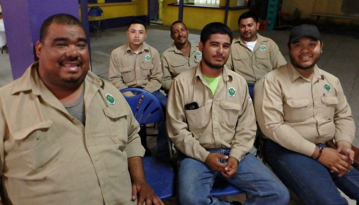 The Belize Electric crew.  Last Wednesday these guys turned around after a full day on the job and worked through the night to find out why the entire island had lost power.