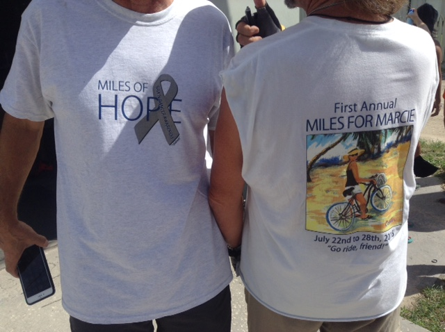 T-shirt from the first annual Bike for Marcie ride in San Pedro, Belize and in cities across the United States.