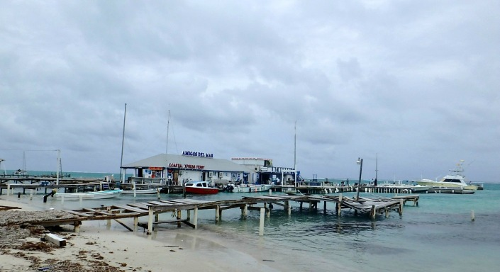 Dos Amigos and the Coastal Water Taxi station were battered but unbowed. How they withstood is unreal. The same dock is now being shared temporarily by Ocean Ferry Belize (formerly Caye Caulker Water Taxi).