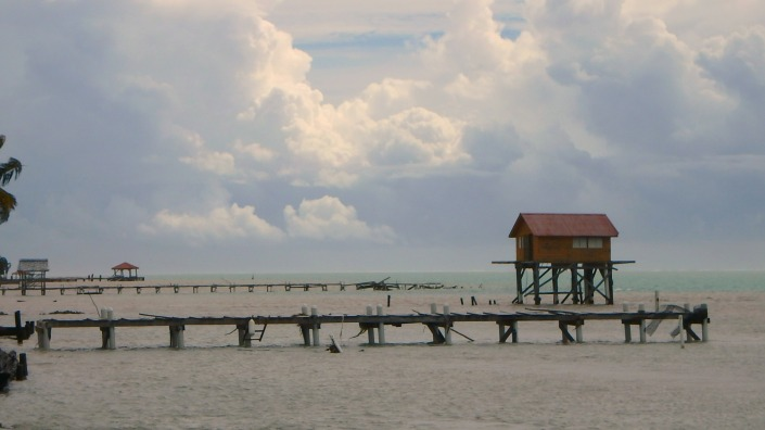 "The ""honeymoon cabin"" survived. Ak'Bol Yoga Resort's palapa just behind it, did not. All that is left is part of the pier."