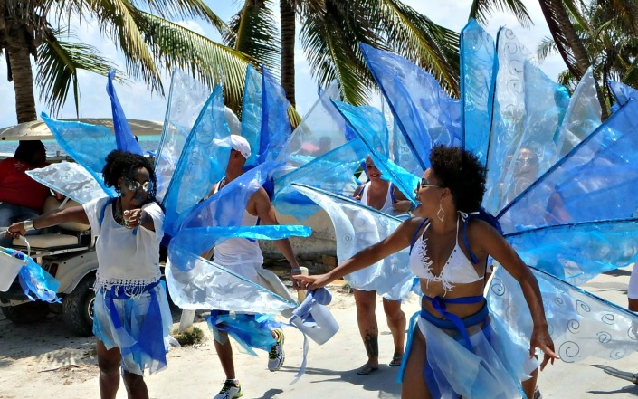 Belize Independence Day Parade, San Pedro, Ambergris Caye, Belize, celebrating the 35th year as an independent nation.