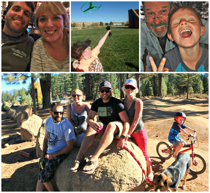 Airline inconveniences fade away when you are with the most important thing in your life -- family. Clockwise from upper left: Ryand and fiance Larisa; grandson Brody with his helicopter; Brody and me, mugging for the camera; bottom, from left: Brendan & Cami, Chris & Katie, Brody & Grizzly.
