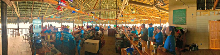 Panorama of the new Palapa Bar from the west side, facing east.