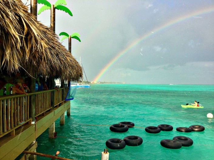 This came outy during the grand re-opening of the Palapa Bar & Grill in San Pedro, Belize on Sunday. Weather, in the form of Hurricane Earl, took away the Palapa and weather it seems is bestowing its blessing on the newly rebuilt bar.