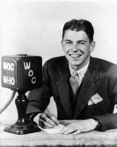 Dutch Reagan was famous for re-creating Cubs games for an Iowa radio station, with only a ticker tape and sound effects.