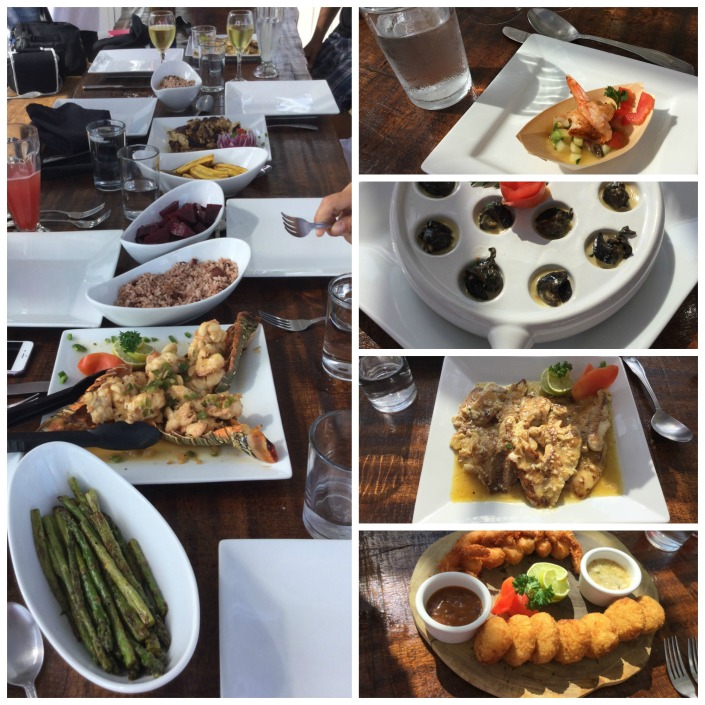 A sampling of the fare we enjoyed on Thursday under the watchful eye of Chef Garfield.