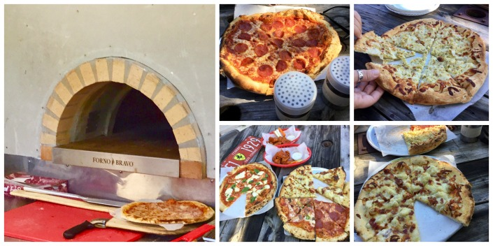 An afternoon of cascading pizzas from a Slice of Haven . . . and, oh yeah, it was a slice of heaven. That's the maw of the Forno Bravo oven - pumping out 650-degrees of heat.