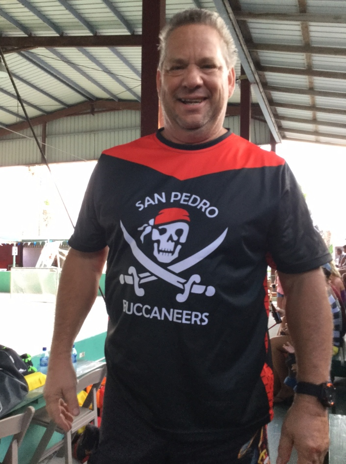 Wayne McCrae a mainstay of the Buccaneers moves on soon to Merida, Mexico, with wife Linda. He vows to start up a hockey league there and come back for Caribbean Coconut Cup II